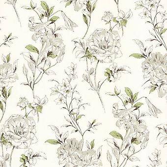 Flores fondos de pantalla de flores blanco crema verde pasta café el lujo moderno de pared