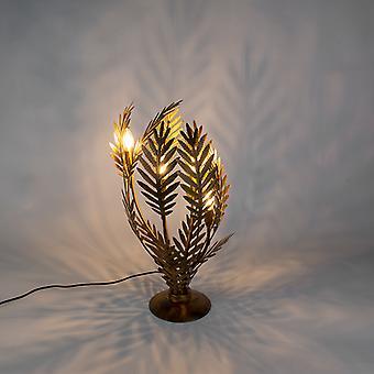 QAZQA Table Vintage lampe grand or - Botanica