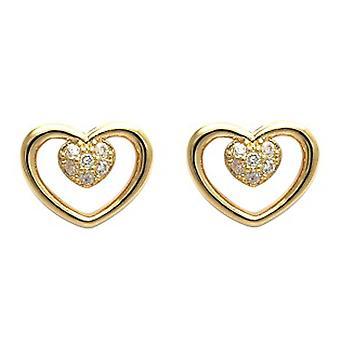 Ah! Goujons de coeur ouvert bijoux boucles d'oreilles
