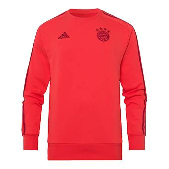 2019-2020 Bayern Munich Adidas Sweat Top (Red)