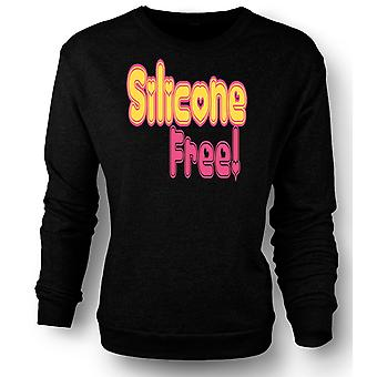 Mens Sweatshirt Silicone Free! No Breast Implants - Quote