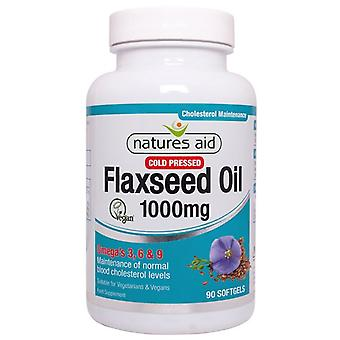 Nature's Aid Flaxseed Oil 1000mg Softgels 90