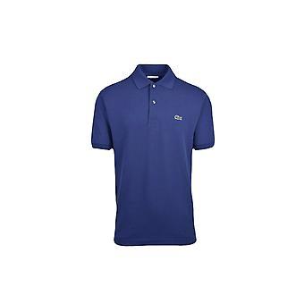 Lacoste Basic Logo Pique Regular Fit Polo Shirt Blue