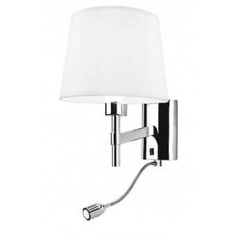 Led 2 Light Indoor Wall Light Chrome With Reading Lamp