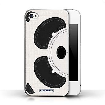 STUFF4 Phone Case / Cover for Apple iPhone 4/4S / Panda Design / Animal Stitch Effect Collection