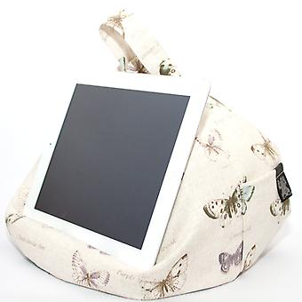 iPad, Tablet & eReader Bean Bag Cushion Stand - Butterfly Chic