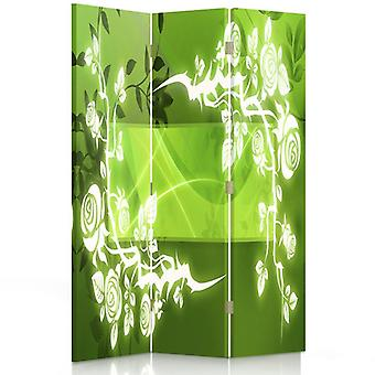 Room Divider, 3 Panels, Double-Sided, Rotatable 360 ??° Canvas, Roses - Abstract