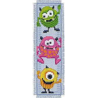Little Monsters Bookmarks On Aida Counted Cross Stitch Kit-2.5