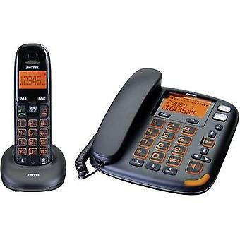 Cordless Big Button Switel Vita DCT 50072 Combo Hands-free, Visual call notification, Answerphone Backlit Black