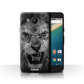 STUFF4 Case/Cover for LG Nexus 5X/Lion/Mono Zoo Animals