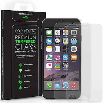 Caseflex iPhone 6S Screen Protector Tempered glas 2 Pack [3D Touch compatibele 0,2 mm dikte 9H hardheid Rating]