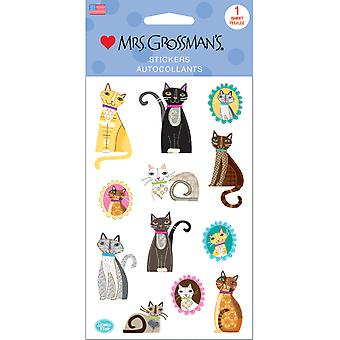Mrs. Grossman's Stickers-Crafty Cats 13615