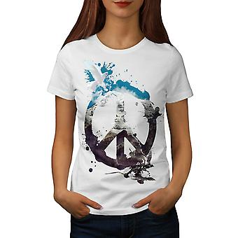 Animal Peace and Love Bird Life Women White T-shirt | Wellcoda