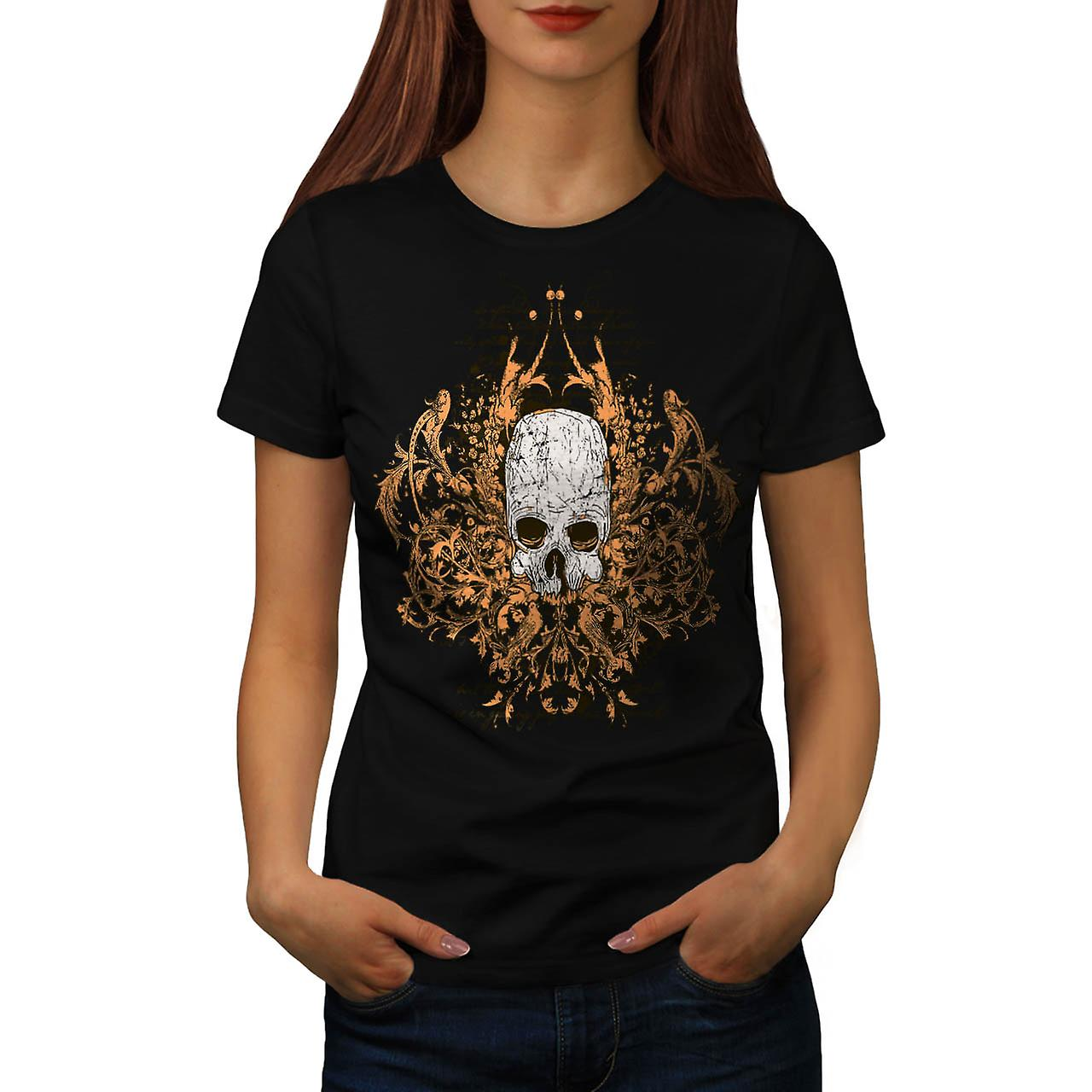 T-shirt nero donne mostro Horror teschio Ghost Story | Wellcoda