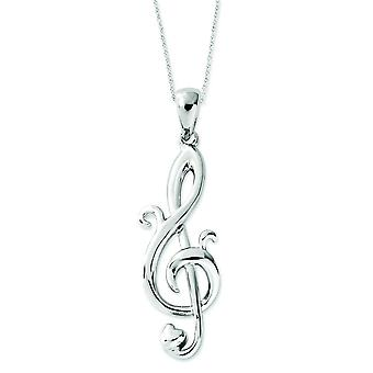 Sterling Silver Love Note 18inch Necklace - 2.8 Grams