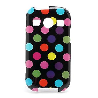 Protective case for mobile Samsung Galaxy Xcover 2 S7710 black / stained