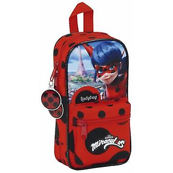 Safta Plumier Mochila Con Portatodo Lleno Lady Bug (Toys , School Zone , Pencil Case)