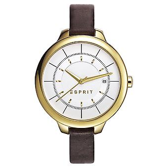 ESPRIT ladies watch bracelet watch Lynn leather gold ES108192002