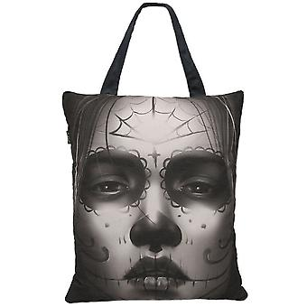 Liquor Brand Cara Tote Bag Accessory Black Day Of The Dead Sugar Skull Lady Face