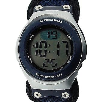 Umbro drenge blå Digital vandafvisende EL Backlight stof Sports Watch U656