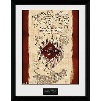 Carte du maraudeur Harry Potter encadrée Collector Print