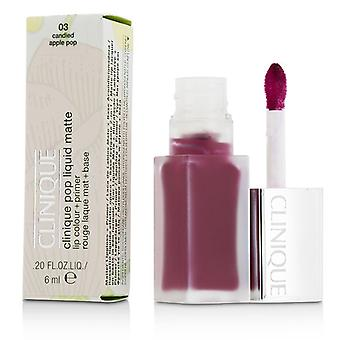 Clinique Pop Liquid Matte Lip Colour + Primer - # 03 Candied Apple Pop 6ml/0.2oz