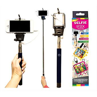 Lightweight Telescopic Plug In Selfie Stick use with Smartphones & Cameras
