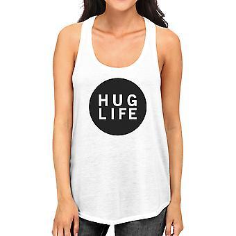 Abbracciare la vita Womens serbatoio senza maniche Design semplice vita citazione idee regalo