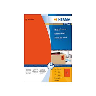 A4 210 x 297 Herma label red 100 pcs.