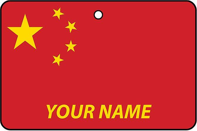 China Flag Personalised Car Air Freshener