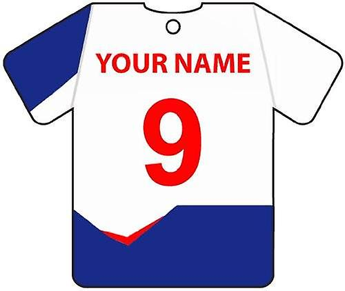 Personalised Bolton Wanderers Football Shirt Car Air Freshener