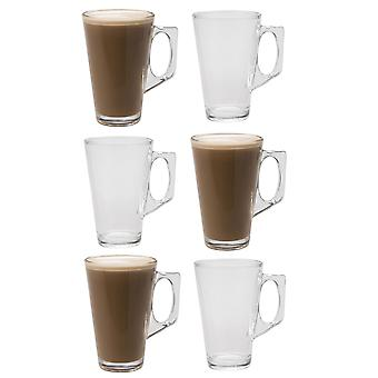 Set of 6 Drinking Glasses for Coffee & Tea