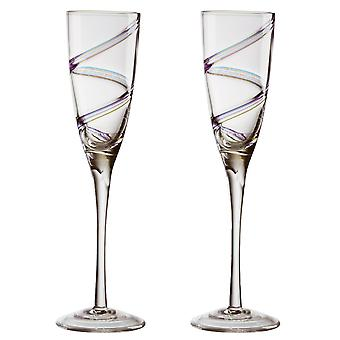 Anton Studio Arc Champagne Flutes, Set of 2