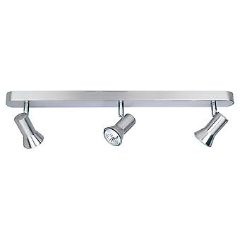 Firstlight Modern Brushed Steel Ceiling Spot Light Bar
