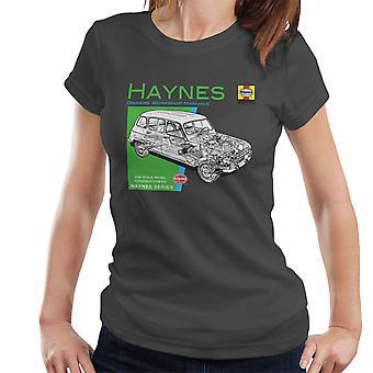 Haynes eiere Workshop manuell 0072 Renault 4 kvinner t-skjorte