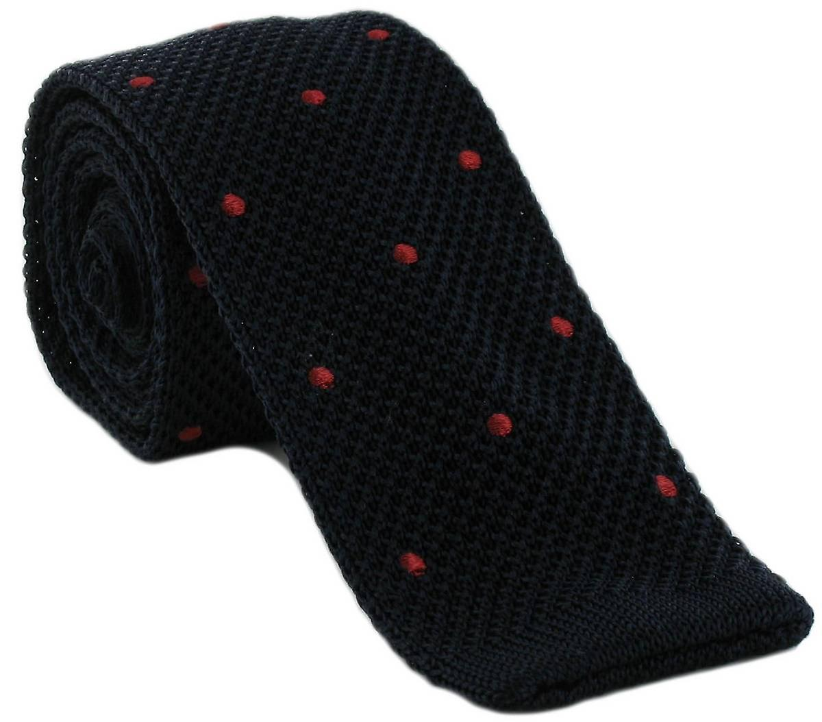Michelsons of London Spot Design Tie - Navy/Red