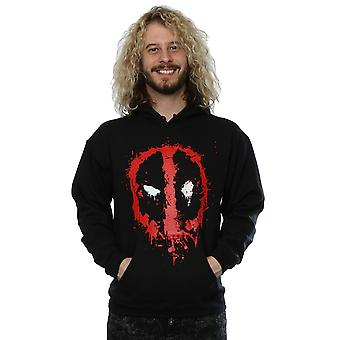 Marvel Men's Deadpool Splat Face Hoodie