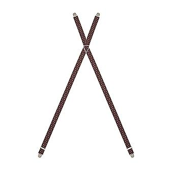 Bugatti suspenders men suspenders Bordeaux 6418