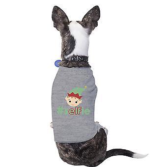 Hashtag Selfie Elf sjove grafiske Pet skjorte grå gave til jul