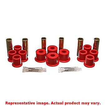 Energy Suspension Blattfeder Buchse Set 4.2122R rot hinten passt: FORD 1984-198