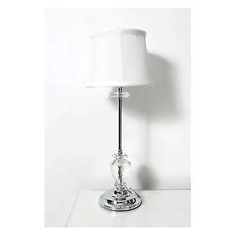 The Fashion Bible White Crystal Silver Table Lamp