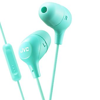 JVC In-Ear Headphone Mic Marsmallow Green