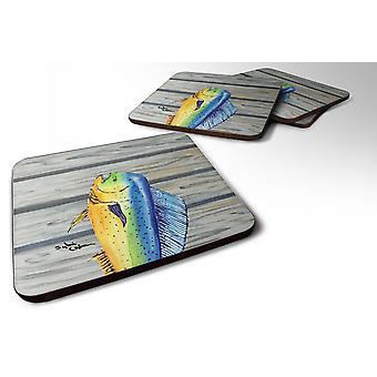 Carolines Treasures  8470FC Set of 4 Dolphin Mahi Mahi Foam Coasters