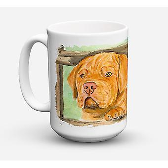 Dogue de Bordeaux Dishwasher Safe Microwavable Ceramic Coffee Mug 15 ounce