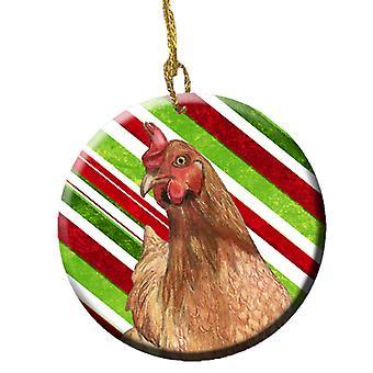 鶏キャンディケイン休日クリスマス セラミック飾り