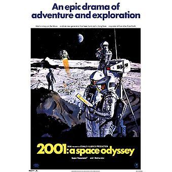 2001 طباعة ملصق ملصق أوديسي الفضاء