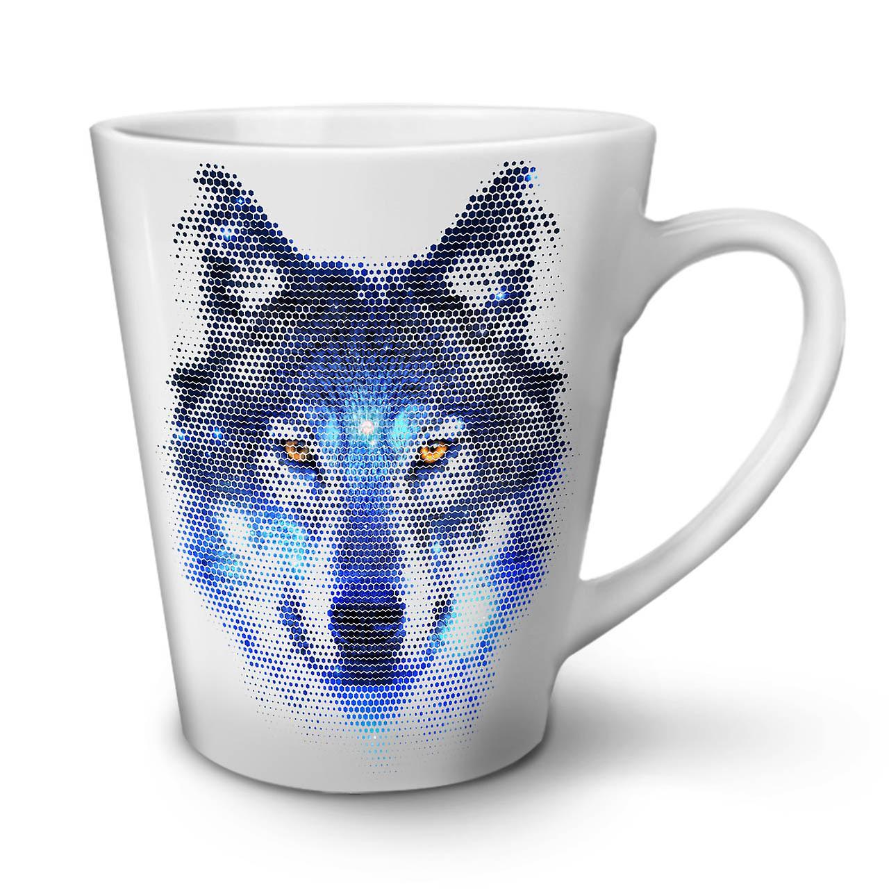 Mug Life Latte Ceramic 12 Forest Wolf Pixel Tea New OzWellcoda Coffee White Tl1FJcK