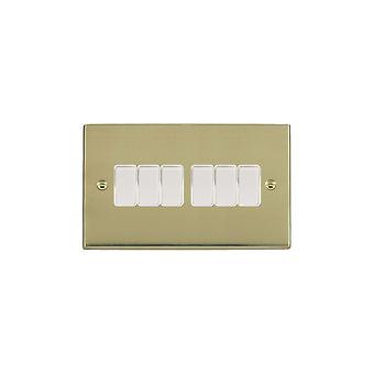 Hamilton Litestat Cheriton Victorian Polished Brass 6g 10AX 2 Way Rkr WH/WH