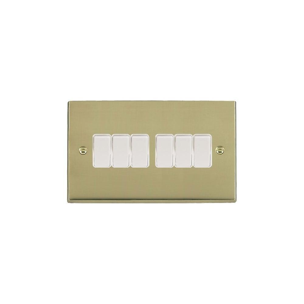 Hamilton Litestat Cheriton Victorian Polished Brass 6g 10AX 2 Way Rkr WH WH