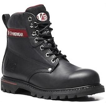 V12 V1235 Boulder Black Hide Derby Boot EN20345:2011-S3 Size 12